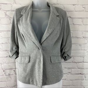 Just ginger grey jersey knit dress jacket size s